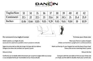 Dancin scarpe da ballo punta aperta in raso nero e rete nera tacco 7,5 cm