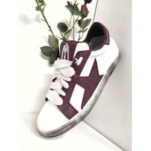 Sneakers Pelle Bordeaux