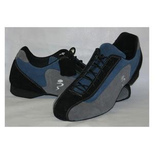 Sneakers Schizzo® Camoscio Grigio e Blu